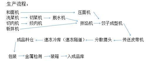 速冻饺子生产线