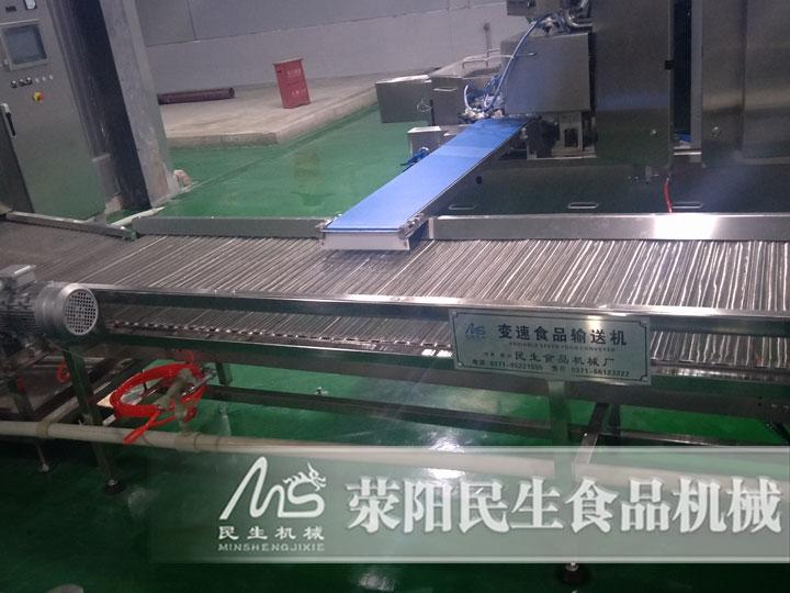 四川客户速冻水饺生产线调试安装现场