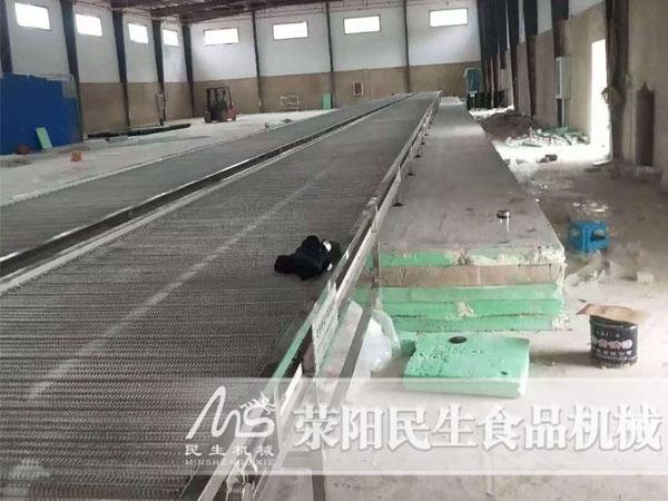 深圳双48米速冻隧道安装现场